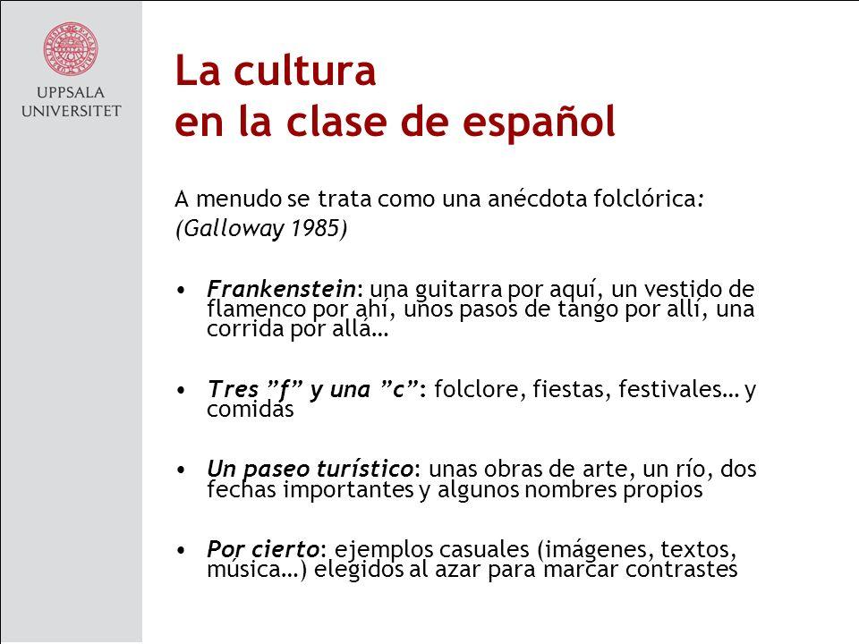 La cultura en la clase de español