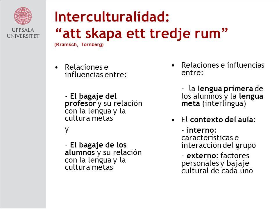Interculturalidad: att skapa ett tredje rum (Kramsch, Tornberg)