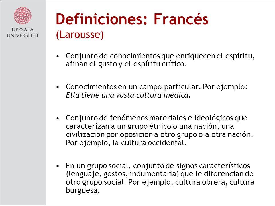 Definiciones: Francés (Larousse)