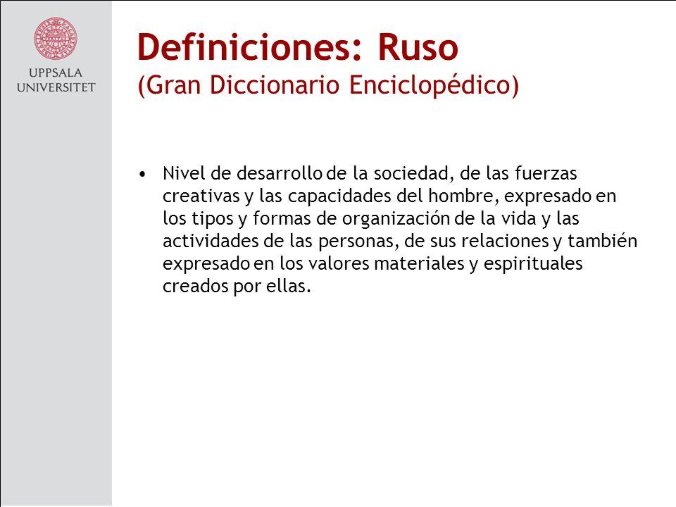 Definiciones: Ruso (Gran Diccionario Enciclopédico)