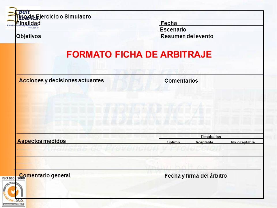 FORMATO FICHA DE ARBITRAJE