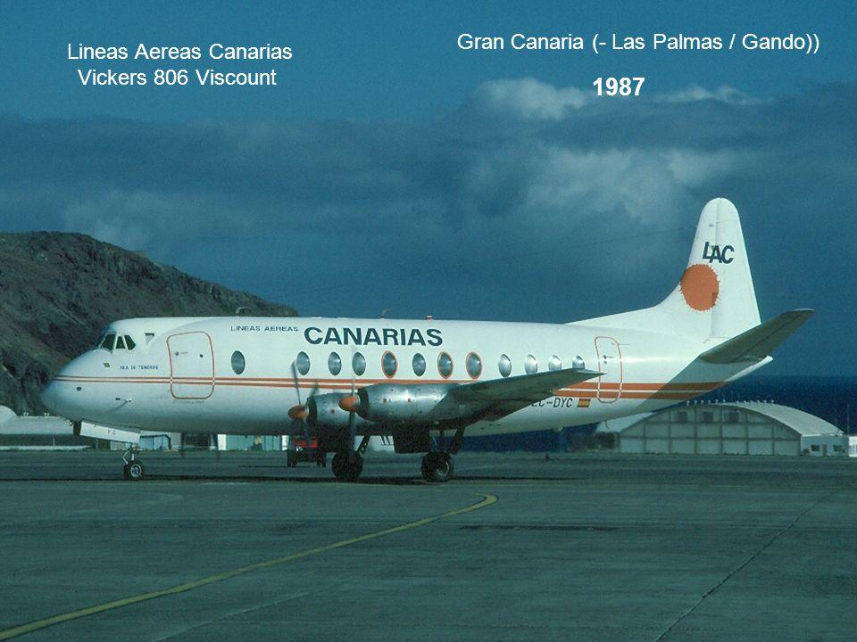 Lineas Aereas Canarias Vickers 806 Viscount