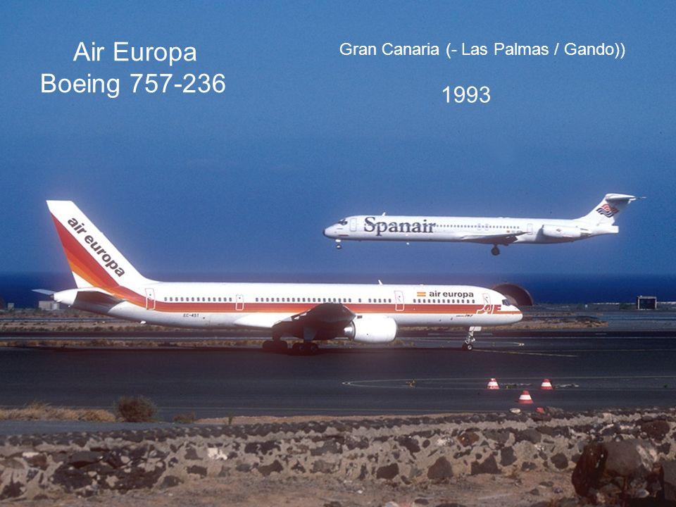 Air Europa Boeing 757-236 Gran Canaria (- Las Palmas / Gando)) 1993
