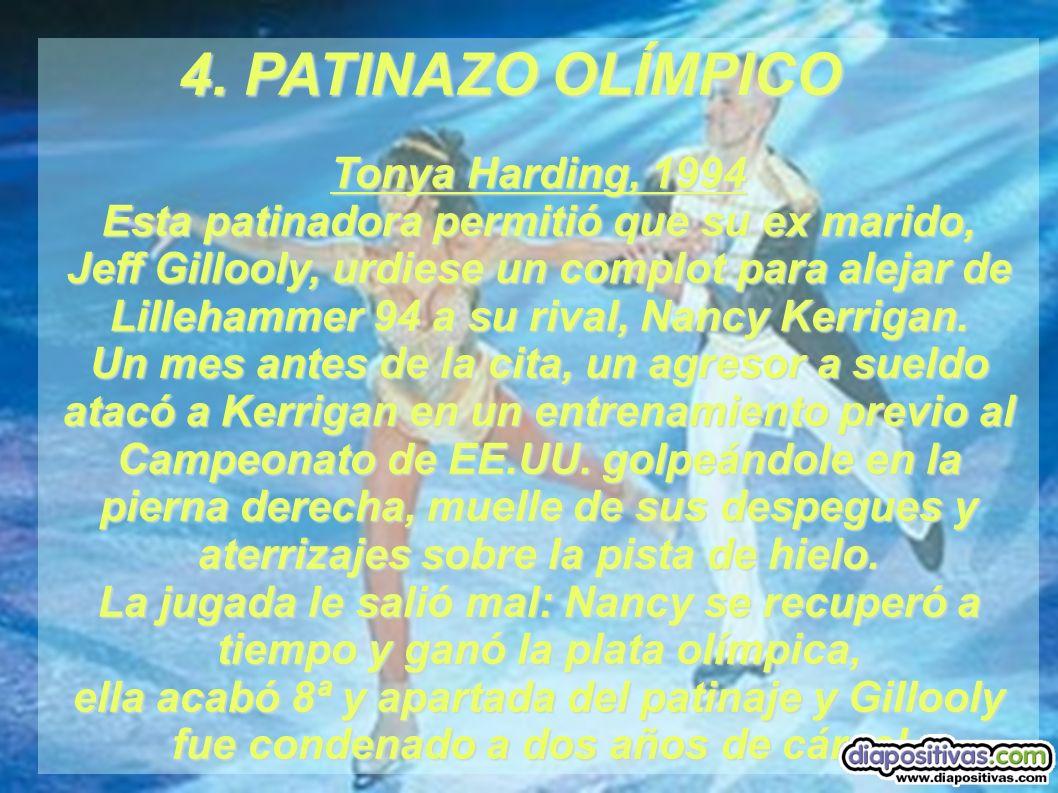 4. PATINAZO OLÍMPICO Tonya Harding, 1994