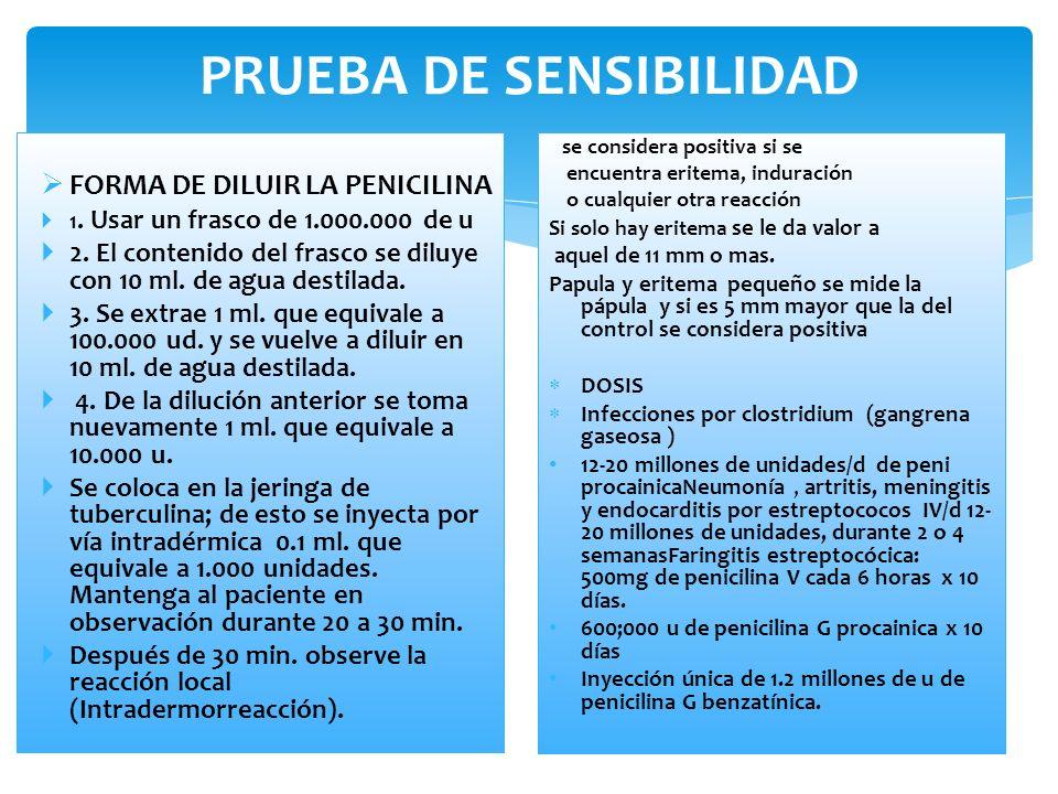 PRUEBA DE SENSIBILIDAD