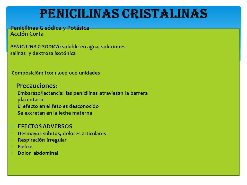 PENICILINAS CRISTALINAS