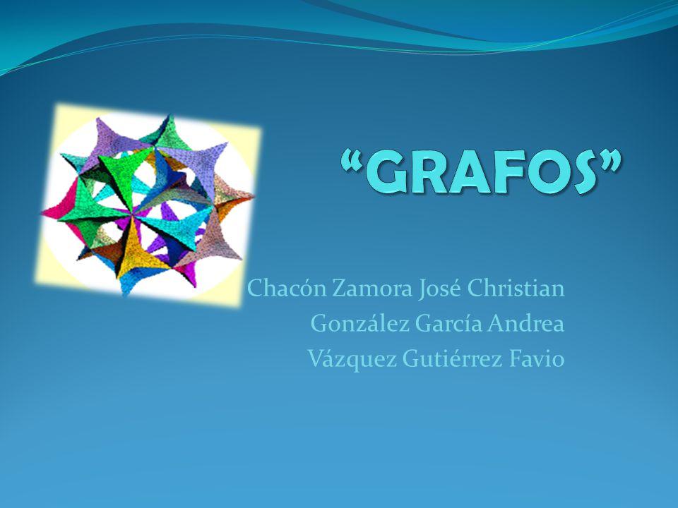 GRAFOS Chacón Zamora José Christian González García Andrea