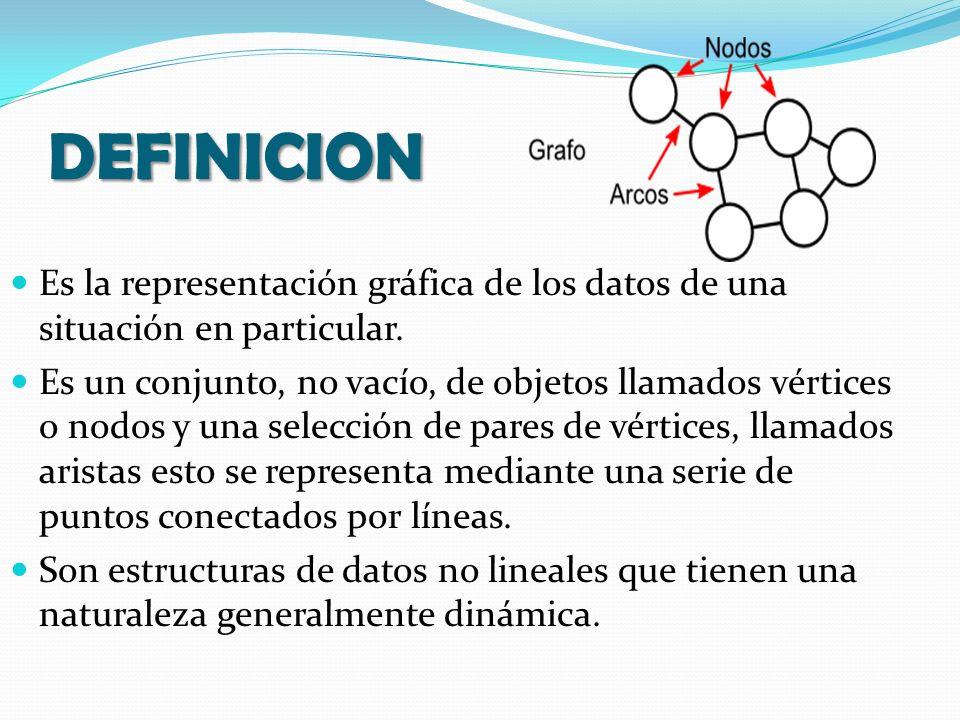 DEFINICION Es la representación gráfica de los datos de una situación en particular.