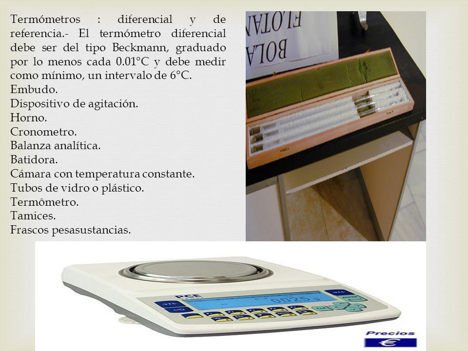 Termómetros : diferencial y de referencia