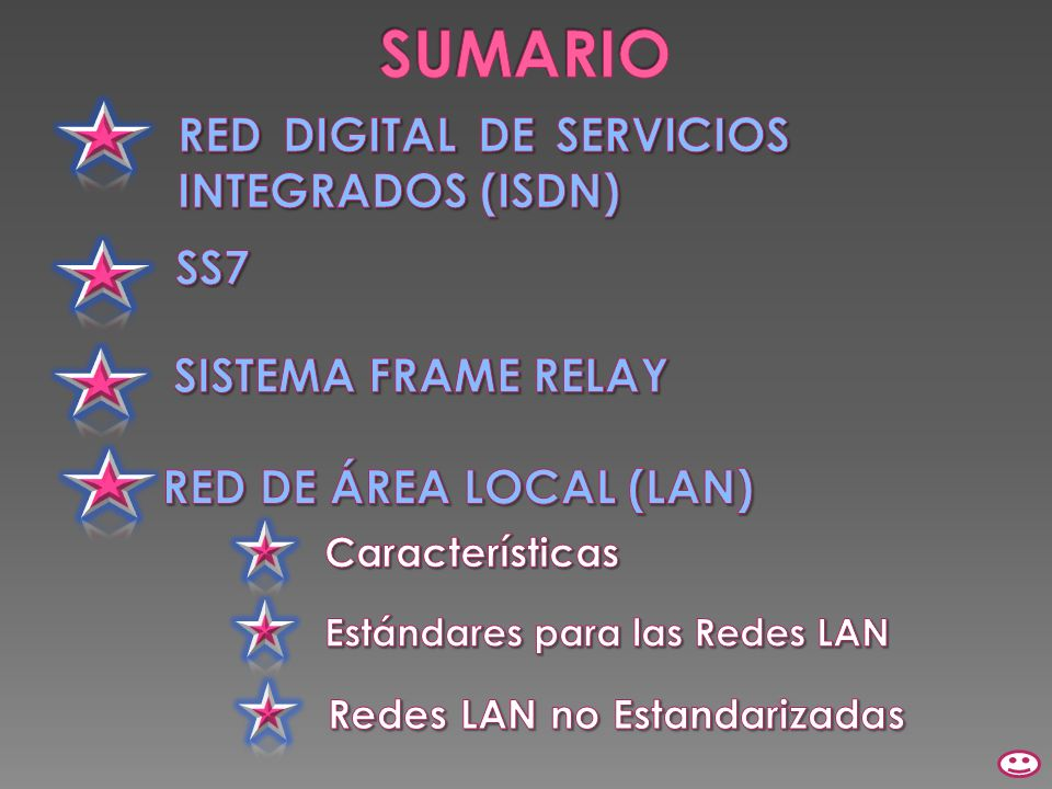 SUMARIO RED DIGITAL DE SERVICIOS INTEGRADOS (ISDN) SS7
