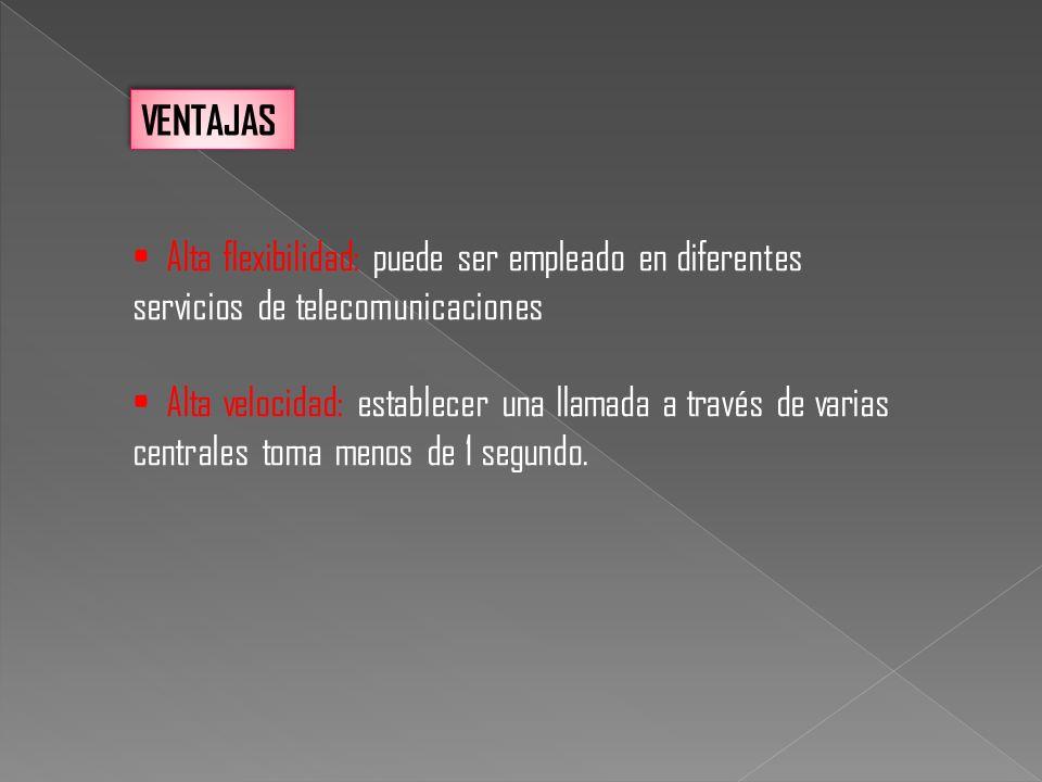 VENTAJAS Alta flexibilidad: puede ser empleado en diferentes servicios de telecomunicaciones.