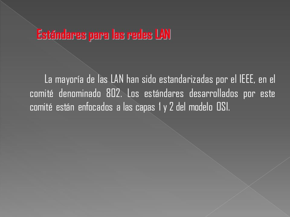 Estándares para las redes LAN