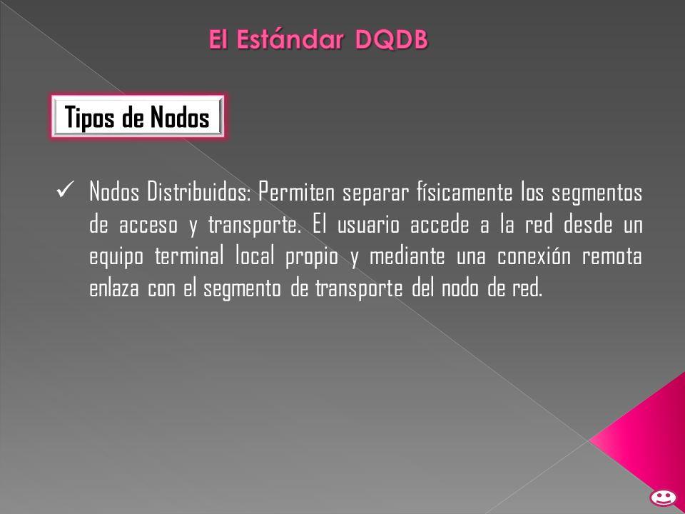 Tipos de Nodos El Estándar DQDB