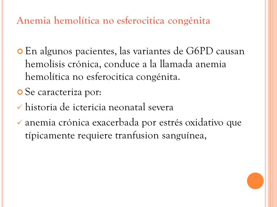 Anemia hemolítica no esferocitica congénita