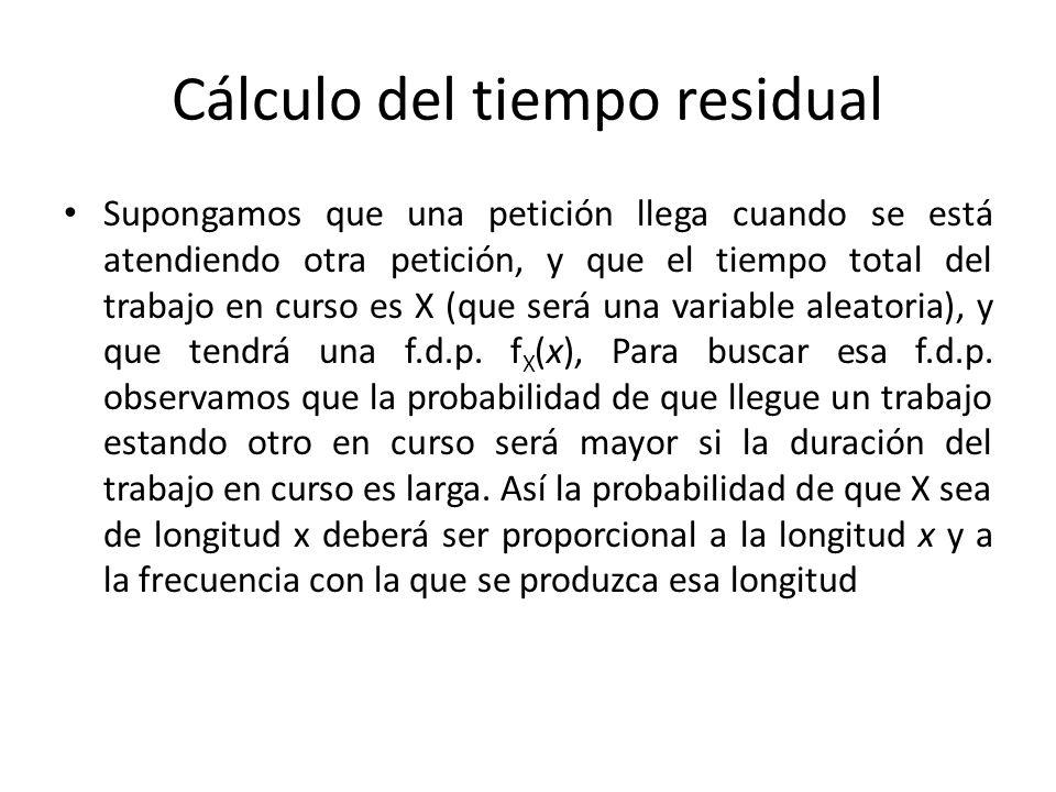 Cálculo del tiempo residual