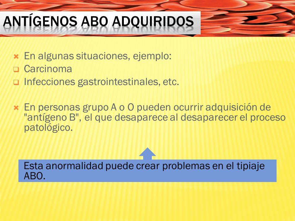 Antígenos ABO adquiridos