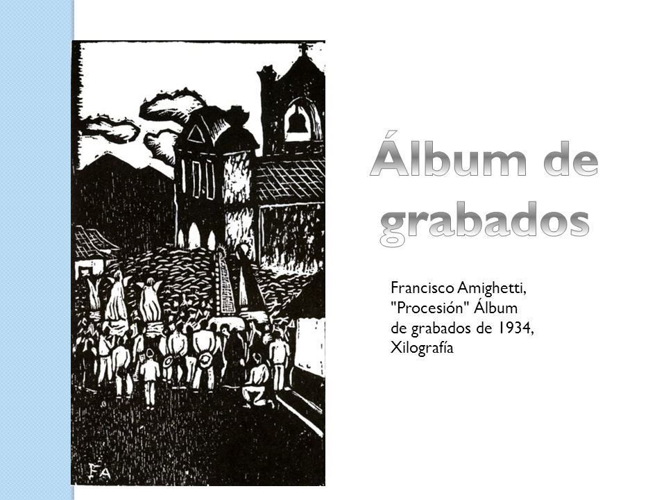 Álbum de grabados Francisco Amighetti, Procesión Álbum de grabados de 1934, Xilografía