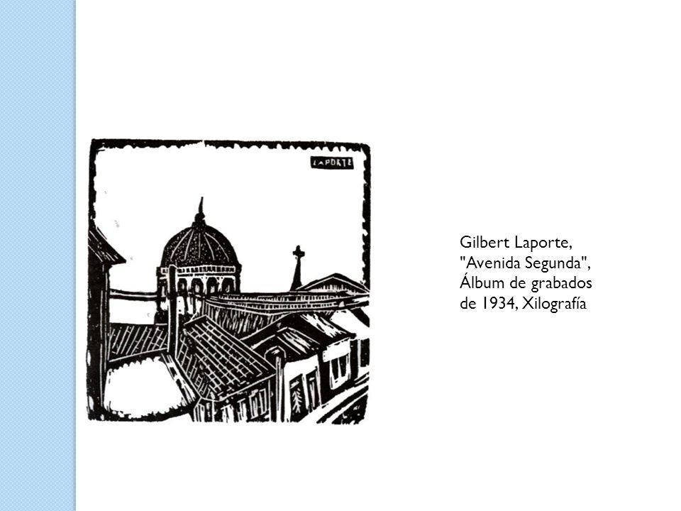 Gilbert Laporte, Avenida Segunda , Álbum de grabados de 1934, Xilografía