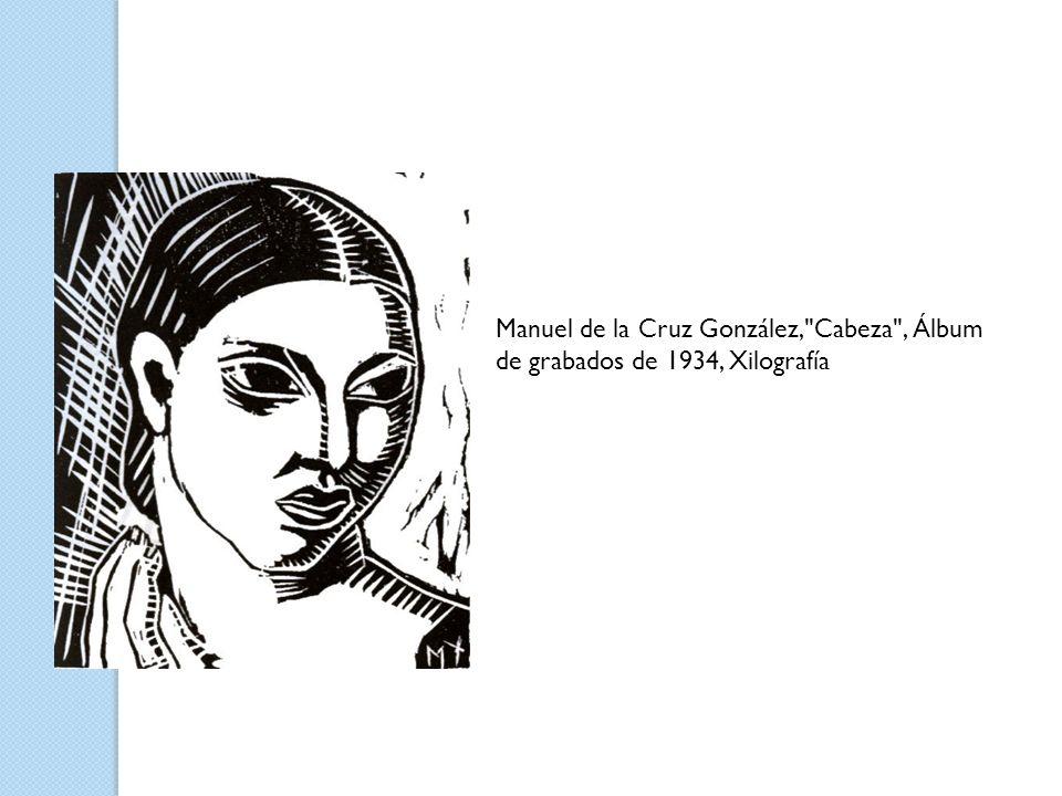 Manuel de la Cruz González, Cabeza , Álbum de grabados de 1934, Xilografía