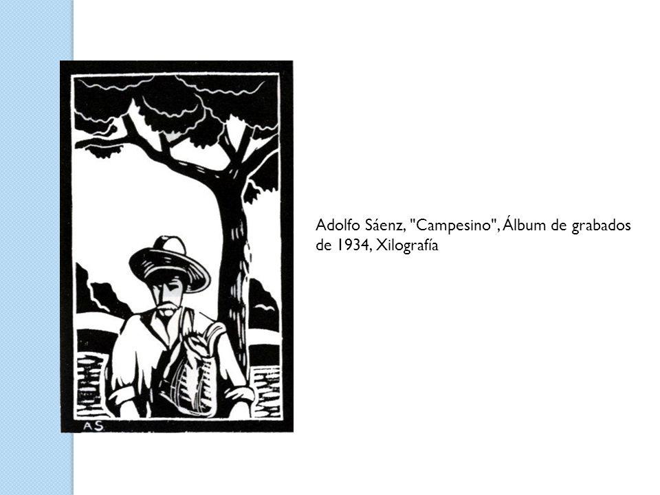 Adolfo Sáenz, Campesino , Álbum de grabados de 1934, Xilografía