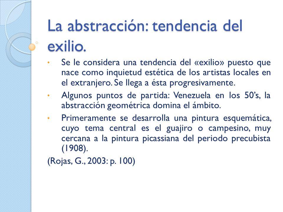 La abstracción: tendencia del exilio.