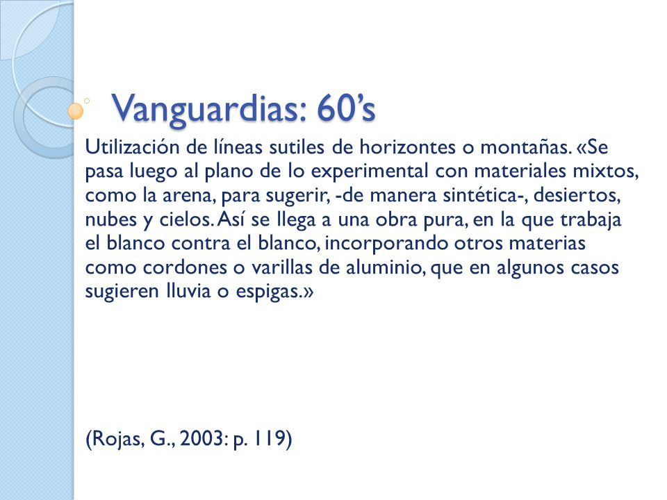 Vanguardias: 60's