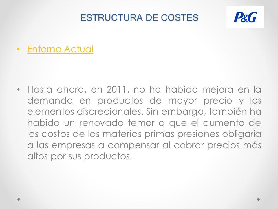 ESTRUCTURA DE COSTES Entorno Actual.