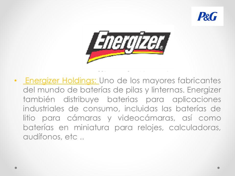 Energizer Holdings: Uno de los mayores fabricantes del mundo de baterías de pilas y linternas.