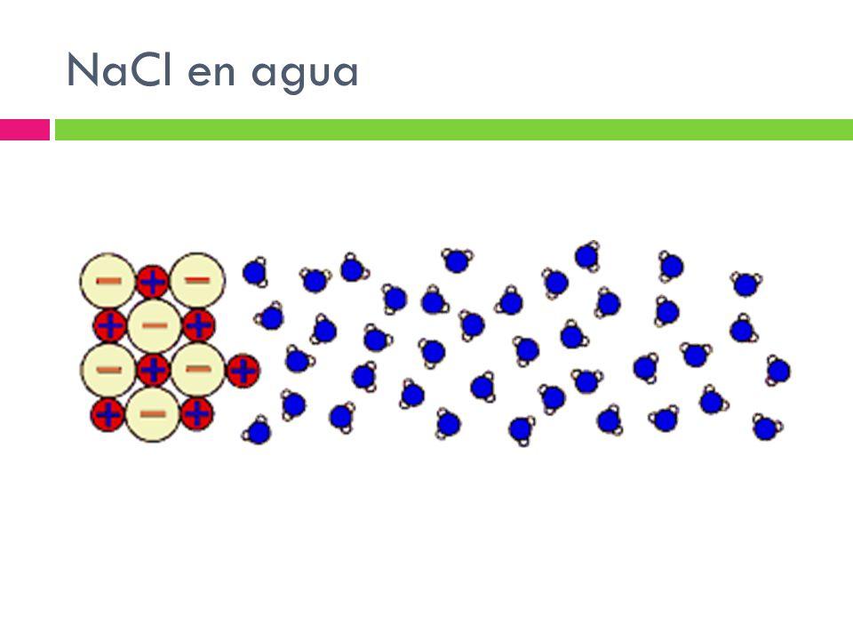 NaCl en agua