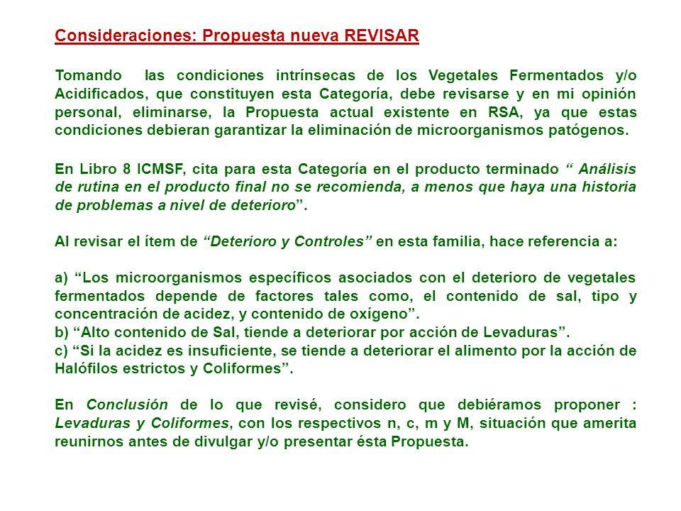 Consideraciones: Propuesta nueva REVISAR