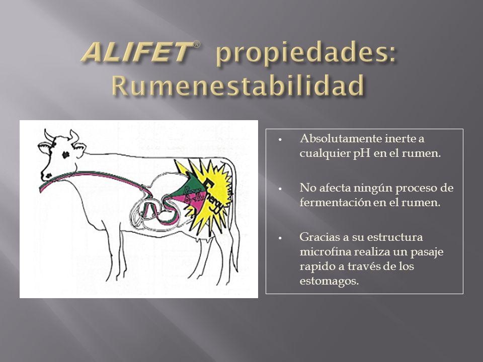 ALIFET® propiedades: Rumenestabilidad