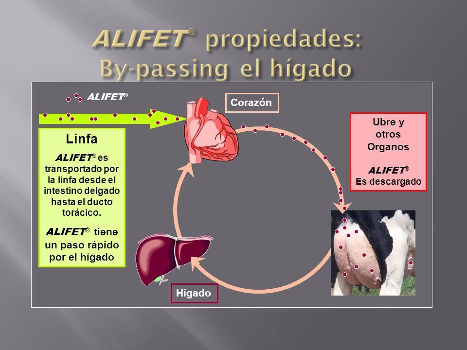 ALIFET® propiedades: By-passing el hígado