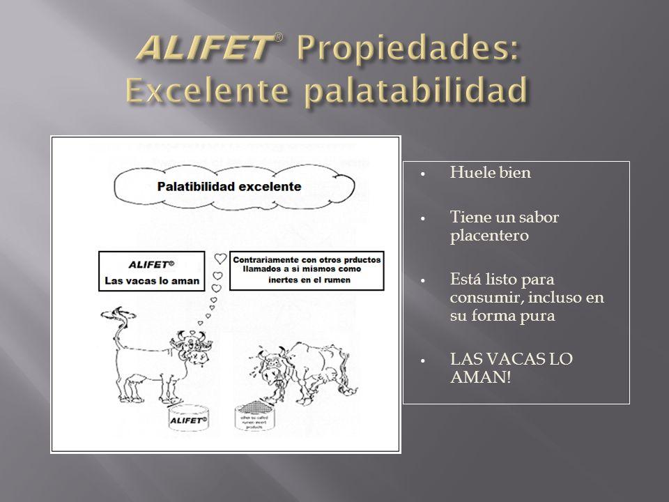 ALIFET® Propiedades: Excelente palatabilidad
