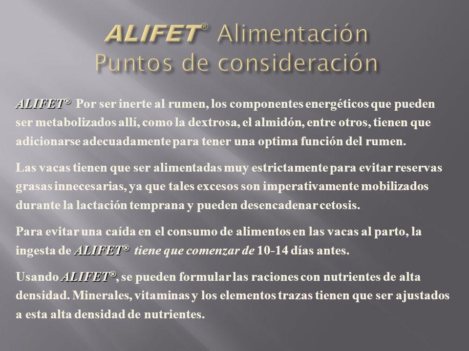 ALIFET® Alimentación Puntos de consideración