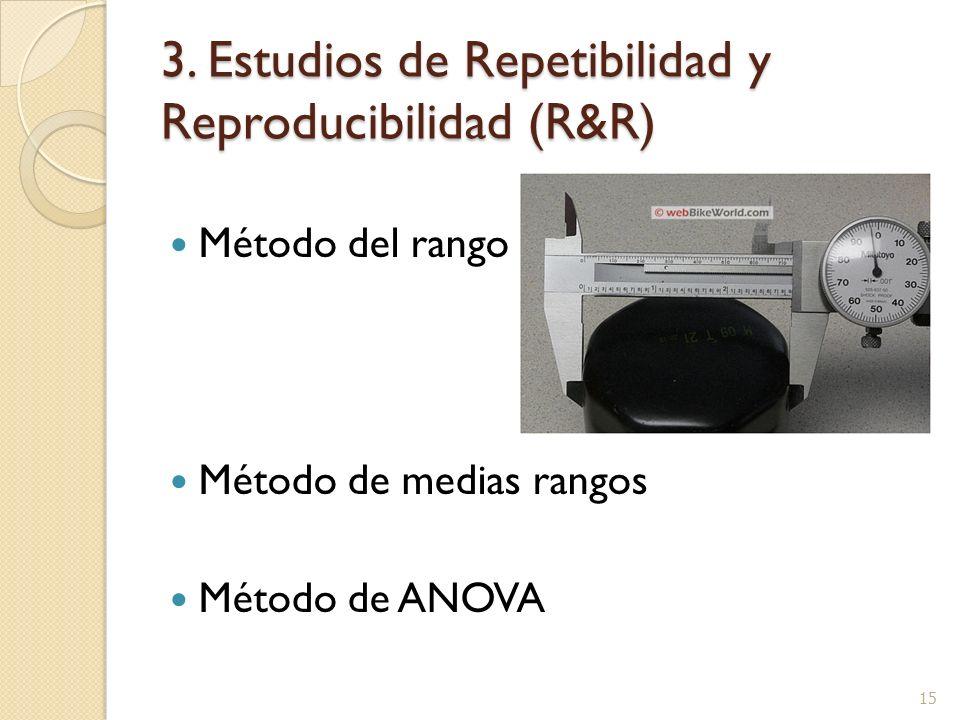 3. Estudios de Repetibilidad y Reproducibilidad (R&R)