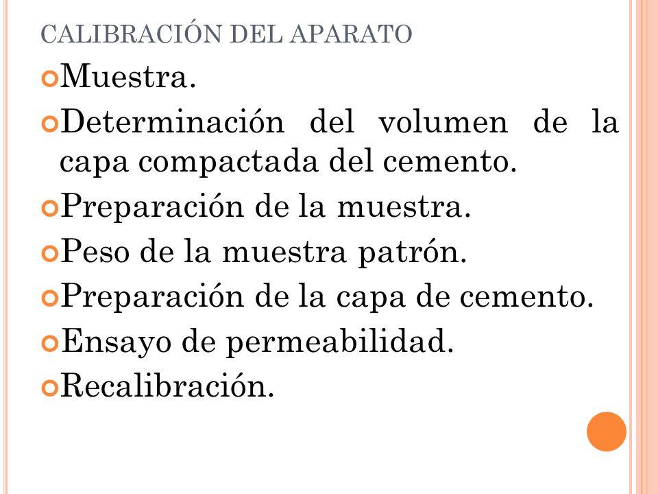 CALIBRACIÓN DEL APARATO