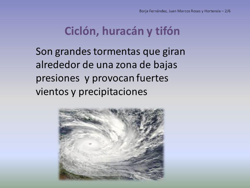 Ciclón, huracán y tifón Borja Fernández, Juan Marcos Rosas y Hortensia – 2/6.