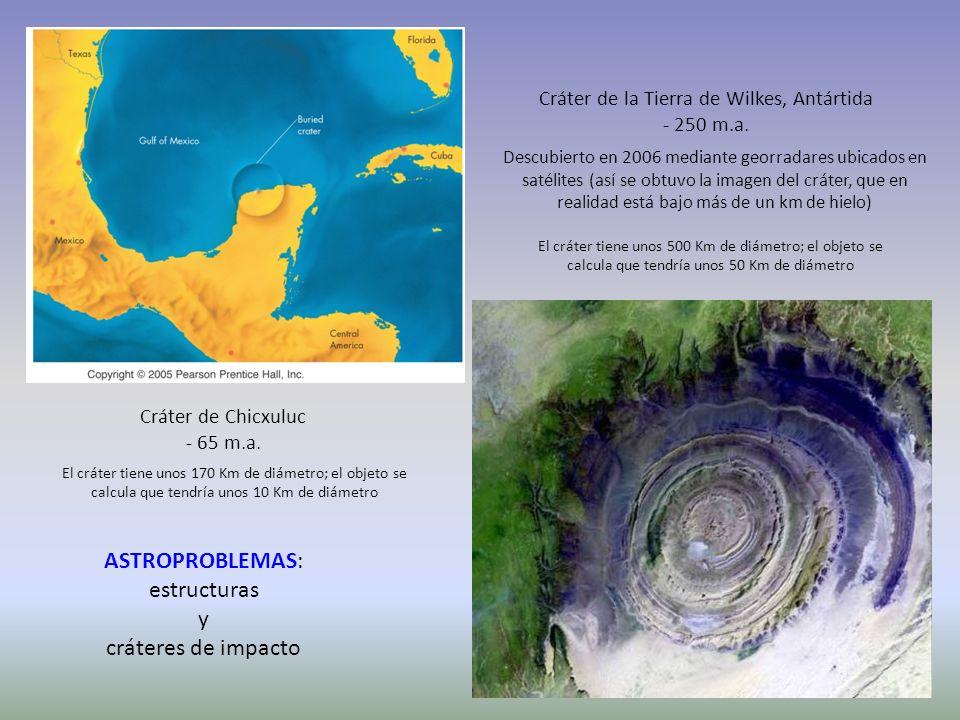Cráter de la Tierra de Wilkes, Antártida