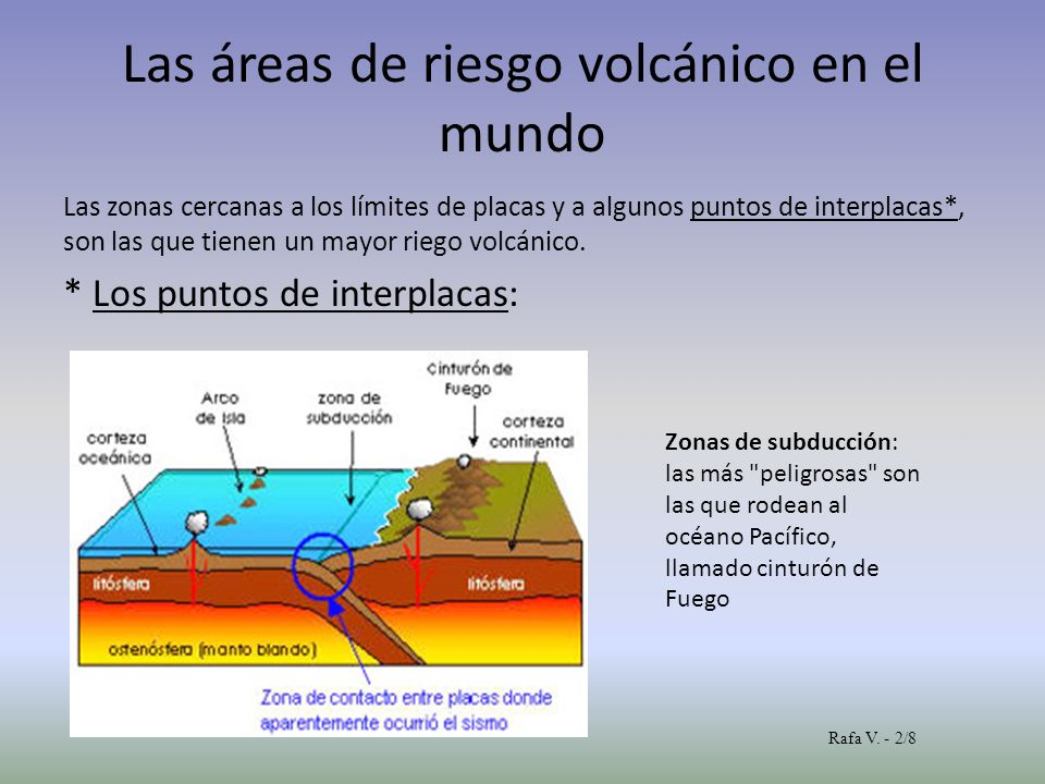 Las áreas de riesgo volcánico en el mundo