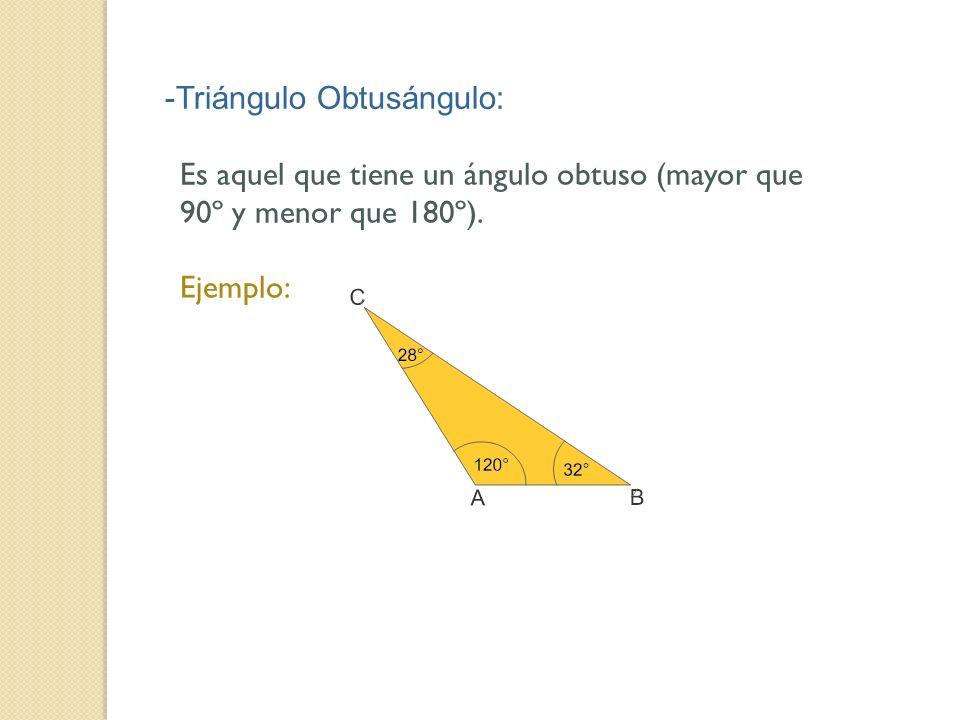 -Triángulo Obtusángulo: