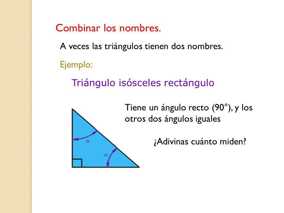 Triángulo isósceles rectángulo