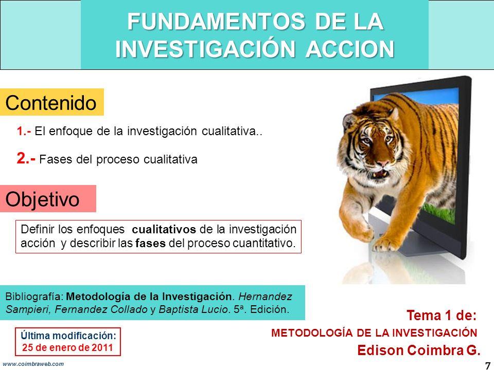 FUNDAMENTOS DE LA INVESTIGACIÓN ACCION