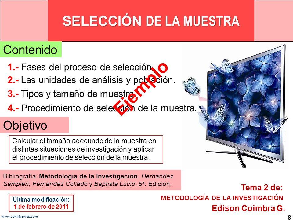 SELECCIÓN DE LA MUESTRA