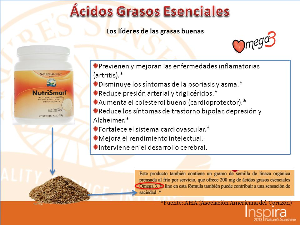 Ácidos Grasos Esenciales Los líderes de las grasas buenas