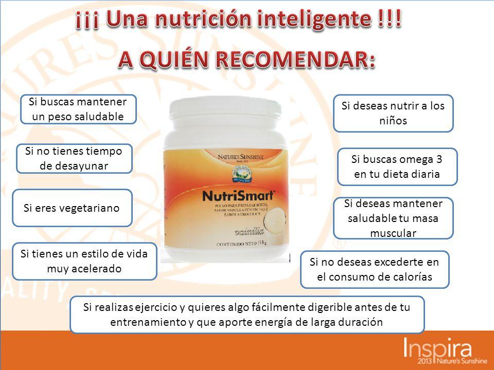 ¡¡¡ Una nutrición inteligente !!!