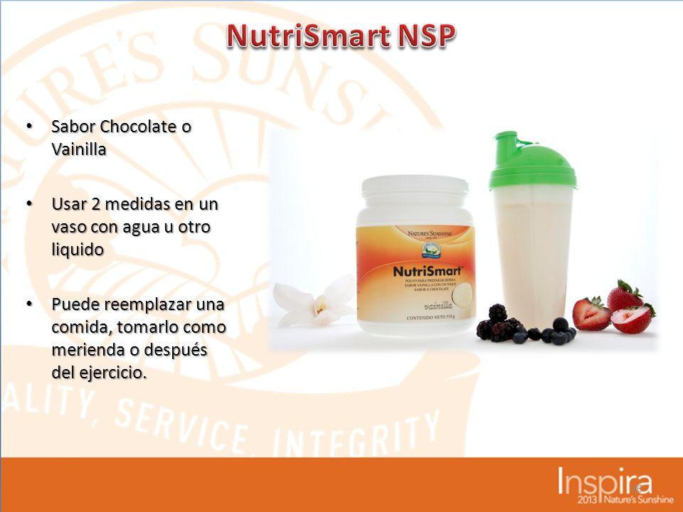 NutriSmart NSP Sabor Chocolate o Vainilla