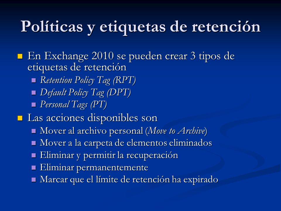 Políticas y etiquetas de retención