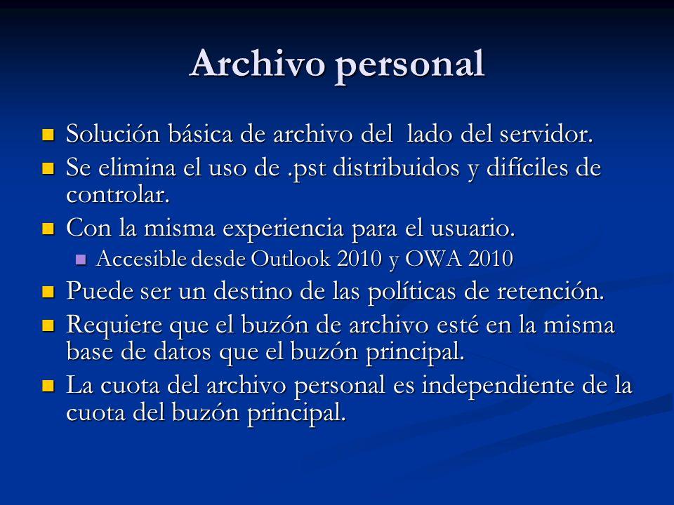 Archivo personal Solución básica de archivo del lado del servidor.
