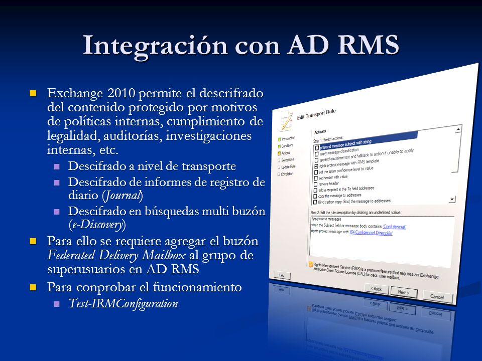 Integración con AD RMS