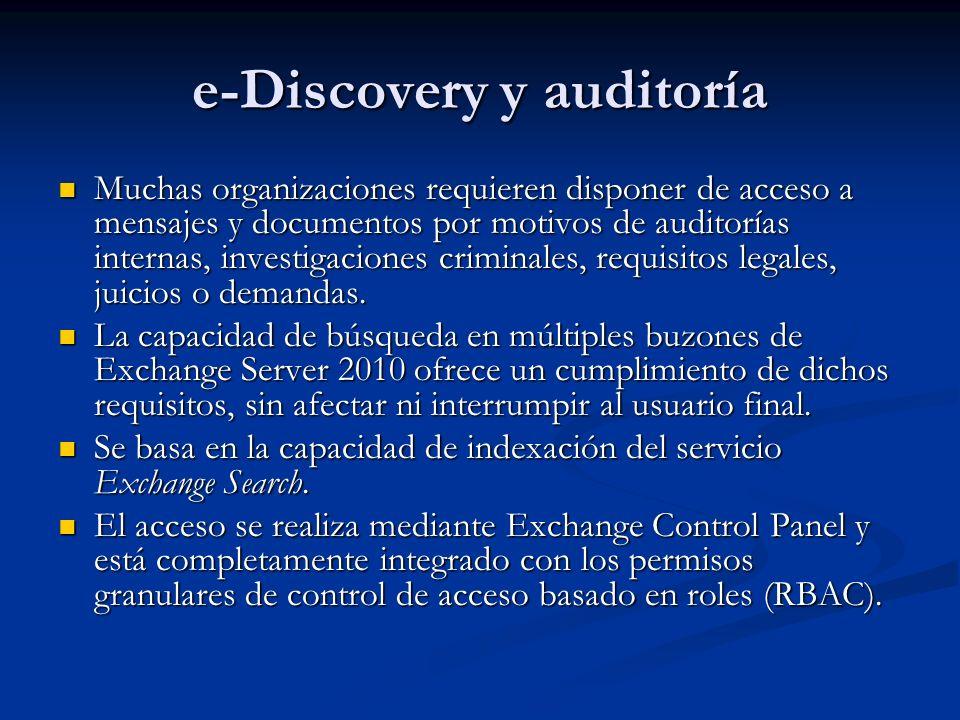 e-Discovery y auditoría
